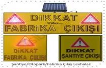 Güneş Enerjili LED'li Fabrika Çıkış Levhası ST-1448